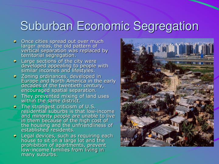 Suburban Economic Segregation