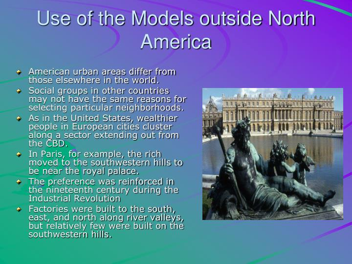 Use of the Models outside North America