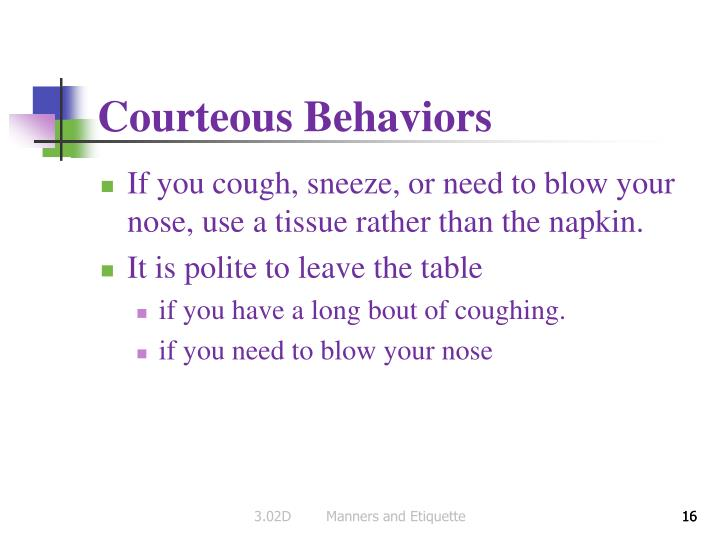 Courteous Behaviors