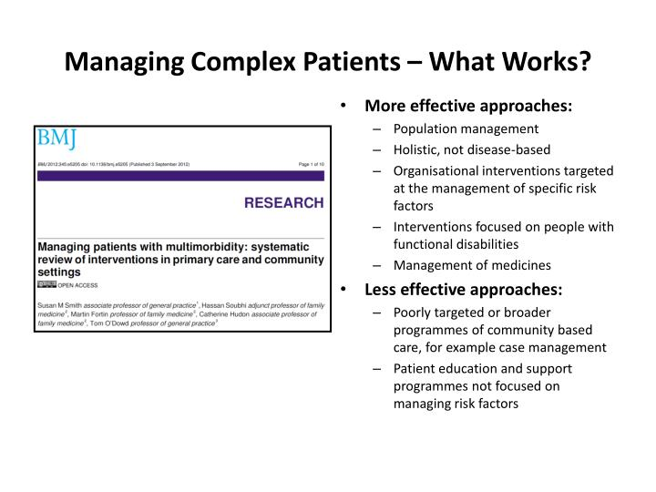 Managing Complex Patients – What Works?