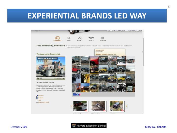EXPERIENTIAL BRANDS LED WAY