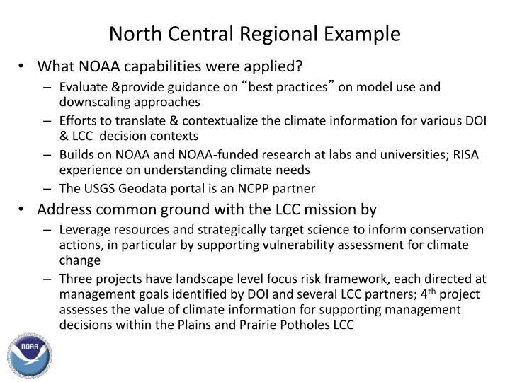 North Central Regional Example