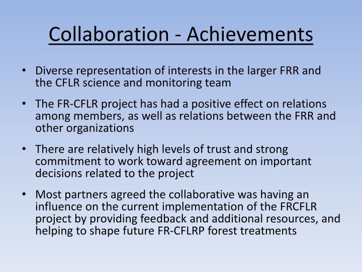 Collaboration - Achievements