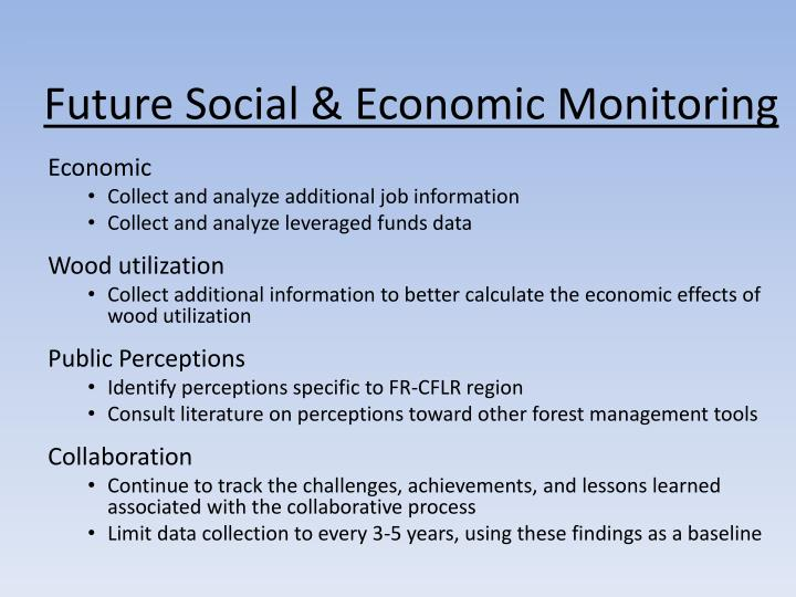 Future Social & Economic Monitoring