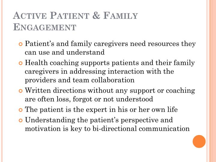 Active Patient & Family Engagement
