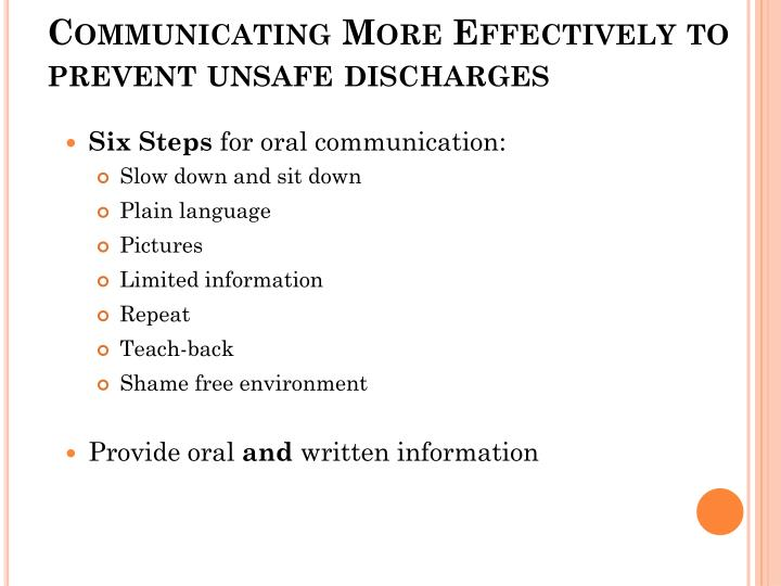 Communicating More Effectively to prevent