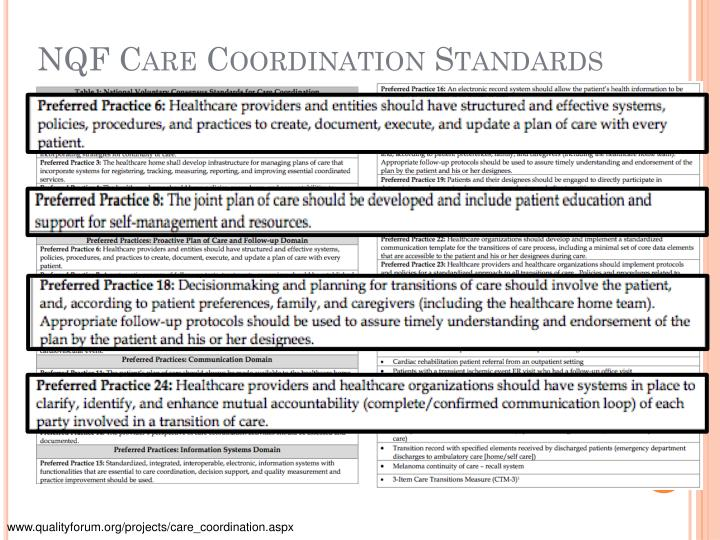 NQF Care Coordination Standards