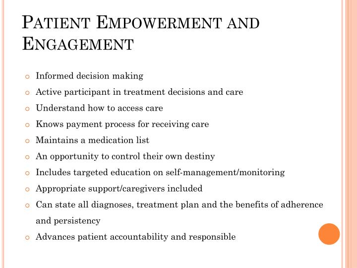 Patient Empowerment and Engagement