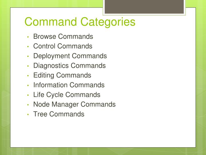 Command Categories