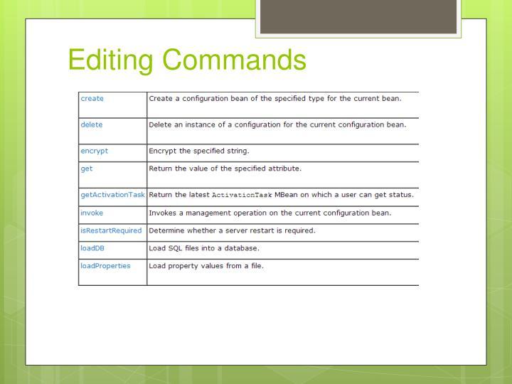 Editing Commands