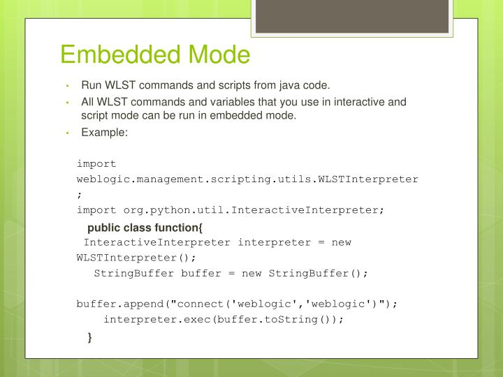 Embedded Mode