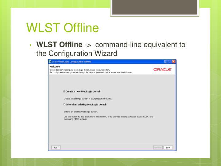 WLST Offline