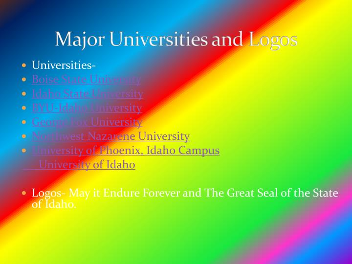 Major Universities and Logos