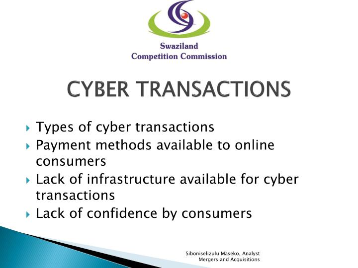 CYBER TRANSACTIONS