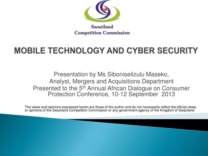 Mobile technology and cyber security