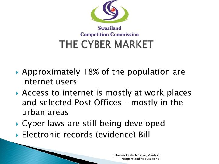 THE CYBER MARKET
