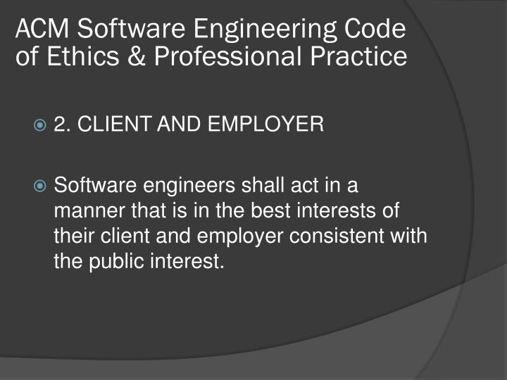 ACM Software Engineering Code