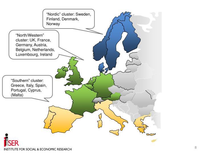 """""""Nordic"""" cluster: Sweden, Finland, Denmark, Norway"""