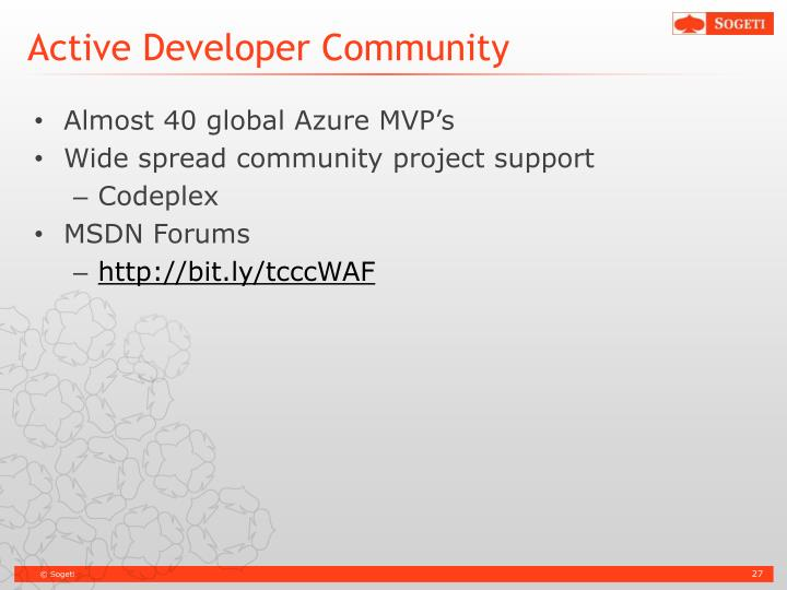 Active Developer Community
