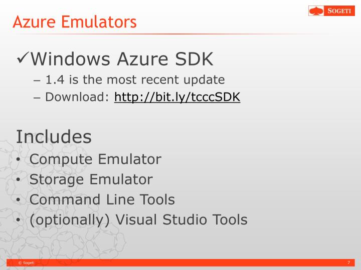 Azure Emulators