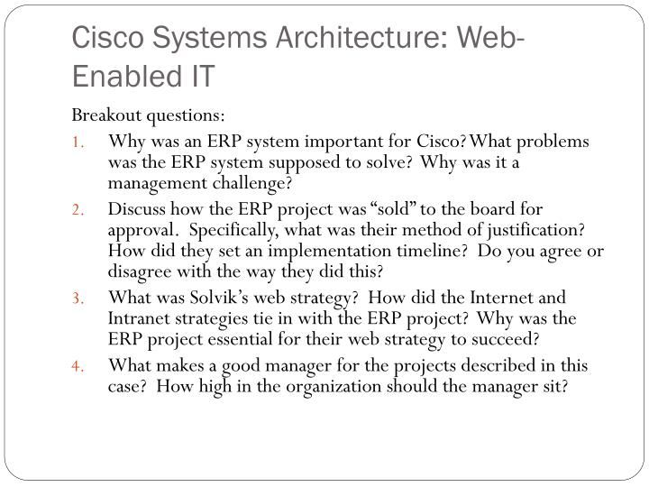 Cisco systems architecture web enabled it