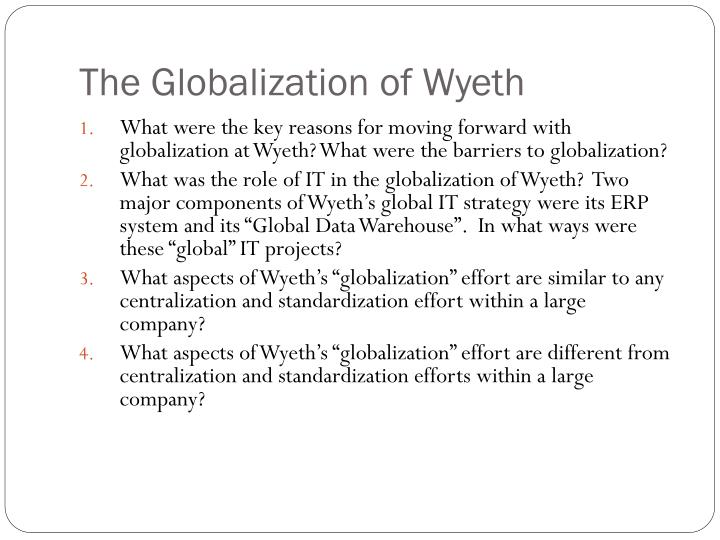 The Globalization of Wyeth