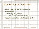 drawbar power conditions
