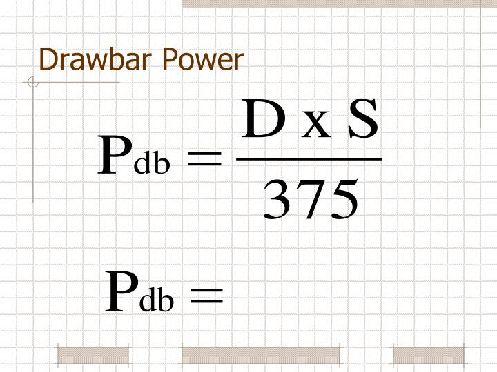 Drawbar Power