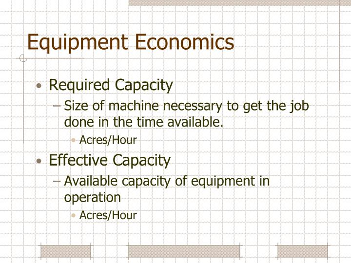 Equipment Economics