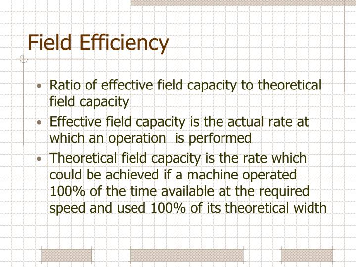 Field Efficiency