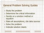 general problem solving guides