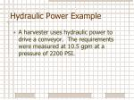 hydraulic power example