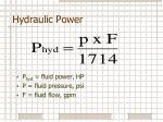 hydraulic power1