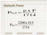 hydraulic power4