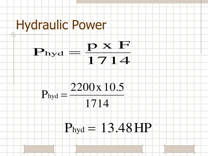 Hydraulic Power