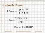 hydraulic power5