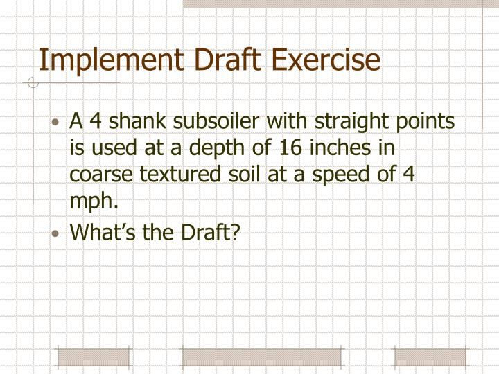 Implement Draft Exercise