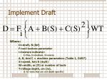 implement draft1