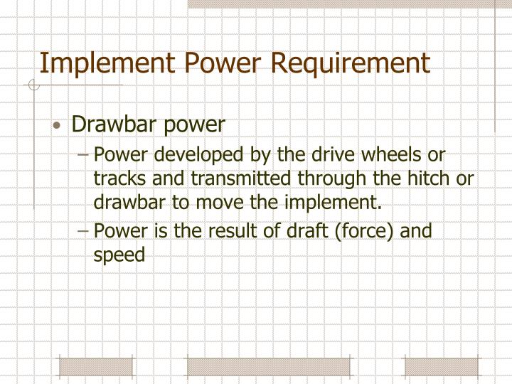 Implement Power Requirement