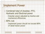 implement power