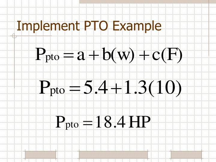 Implement PTO Example