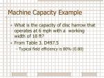 machine capacity example1