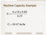 machine capacity example3