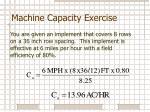 machine capacity exercise1