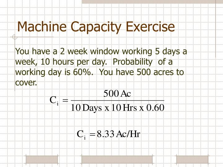 Machine Capacity Exercise