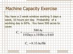 machine capacity exercise2