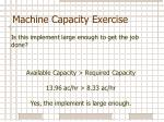 machine capacity exercise3