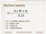 machine capacity4