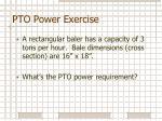 pto power exercise