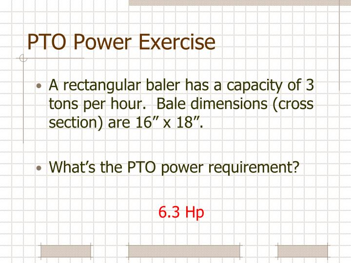 PTO Power Exercise